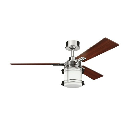 B00AJOW4QA Kichler Lighting 300157PN Pacific Edge 52-Inch Ceiling Fan, Polished Nickel Finish with Reversible Maple/Cherry Blades and Integrated Etched Opal Light Kit