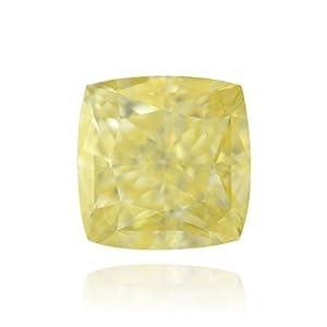 Yellow Loose Diamond Cushion Cut Natural Fancy Color GIA Cert 1.06 Carat VS1