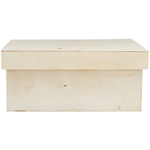 Multicraft Imports WS900C Rectangle Wood Craft Keepsake Box Set (3 Pack) (Wood Storage Box With Lid compare prices)