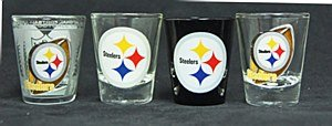 Pittsburgh Steelers Four Piece Collector Shot Glass Set from SteelerMania