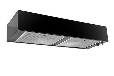 "Imperial G3042Sd2-Bl Black Under Cabinet 360 Cfm 42"" Wide Flush Mount Under Cabinet Range Hood With Air-Ring Fan With Front Plexi Panel From The G3000 Collection"