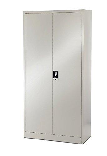 4er-Set-Aktenschrank-Metallschrank-Stahlschrank-Stahlblech-Werkzeugschrank-Broschrank-Schrank-Universalschrank-Flgeltrschrank-185-cm-graugrau