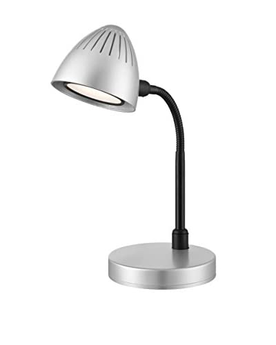 Lite Source Donati 15h LED Desk Lamp, Silver/Black