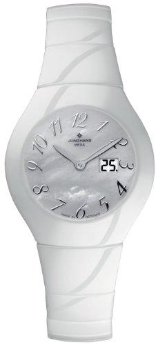 Junghans - 013/1100.44 - Montre Femme - Quartz Analogique - Radio - Bracelet céramique Blanc