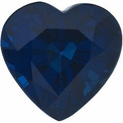 Heart Shape Blue Sapphire Genuine Real Gem Stone, Quality Grade, AA 0.83 carats 5.50 mm