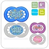 MAM CUTE ORTHODONTIC SOOTHER GIRLS TWINPACK 6M+ BPA FREE