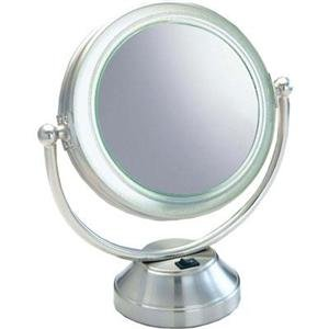 Floxite 7085-15 Lighted Vanity Mirror 15X Mag