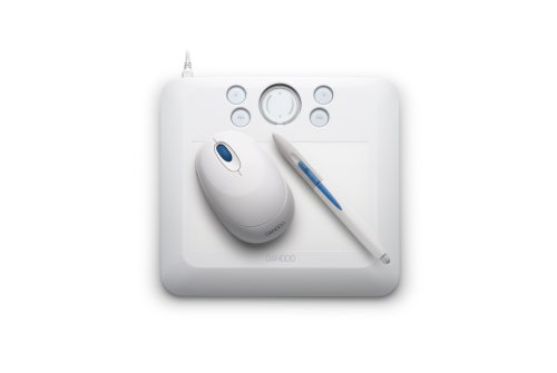 Mouse /& Graphics Software White Tablet with Pen Small Bamboo Fun