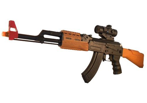 AK-47 Ak47 Battery Operated Toy Machine Gun Rifle Weapon With Shooting Sounds Police Swat Assault Team Rifle with sound light vibration