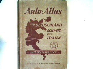 Auto-Atlas von Deutschland, Schweiz und Italien