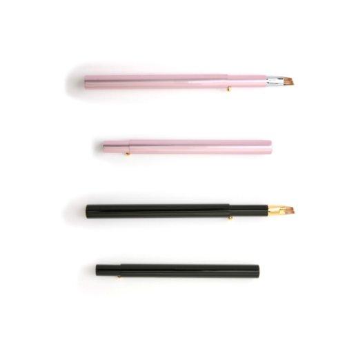 北斗園化粧筆 スライド式アイブロウブラシ HSー6 ピンク 熊野筆