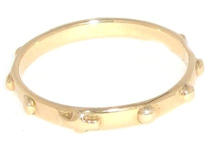 Rosary Ring in 18k White or Yellow Gold