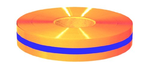 Mighty Line 2ROBCTR Floor Tape With Blue Center 2-Inch by 100-Feet, Orange
