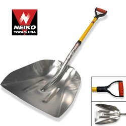 Neiko Tools Big Scoop Aluminum Snow Shovel with Soft Grip Handle