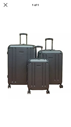 Kenneth Cole Reaction 8 Wheelin Collection Lightweight 3-PC Expandable Hardside Spinner Luggage Set (Pewter) (Hard Side Expandable Luggage compare prices)