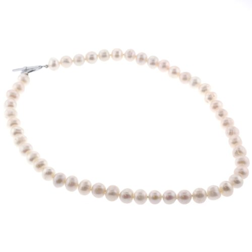 Freshwater Pearl Fashion Necklace - Beige - 18'' Length, 8-9mm Pearls