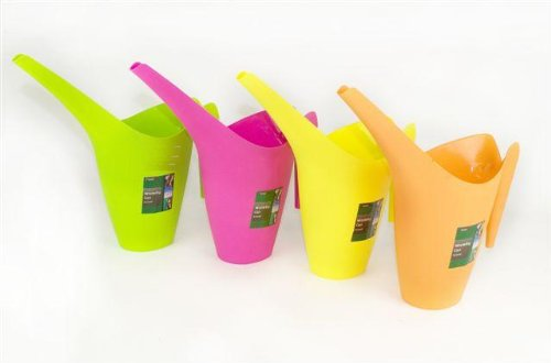 Plastic Moulded Indoor Watering Can - Neon Colours Set of 2