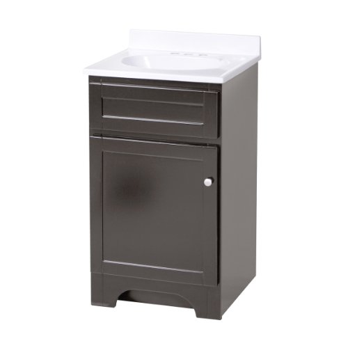 Foremost COEAT1816 Columbia 18-Inch Espresso Bath Vanity Combo