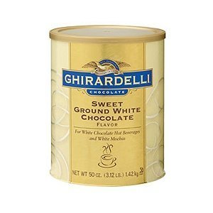 Ghirardelli Chocolate Sweet Ground White Chocolate, lbs. 3.12
