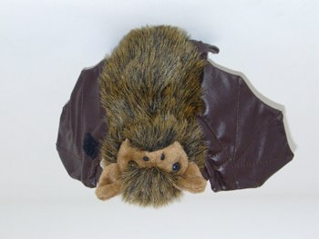 Plush Soft Toy Bat With Velcro On Wings. 18cm