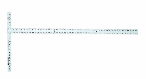 Johnson Level and Tool JTS48HD 48-Inch Aluminum Drywall T-Square with Extra Thick Blade