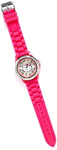 Hello Kitty Pink Crystal Bezel Rubber Strap Watch