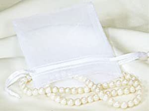 3x4 White Organza Wedding Party Favor Bags - Package of 100 - Lesbian Wedding Supplies