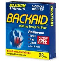 Buy Backaid Back Relief, Aspirin Free Pill – 28 Tablets