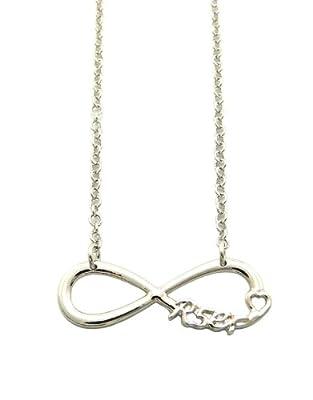 R5er Silver Tone Infinity Charm Celebrity Fan Necklace XC453R