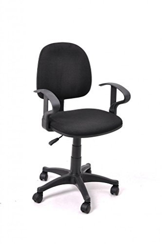 furniturer black comfortable mesh office computer desk chair with fabric pads best buy desk chair. Black Bedroom Furniture Sets. Home Design Ideas