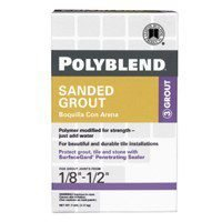 Custom Building Products 381 Polyblend Sanded Tile Grout, 7-Pound, Bright White