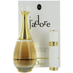 Jadore discount duty free J'adore by Christian Dior for Women 2 Piece Set Includes: 3.4 oz Eau de Parfum Spray + 0.25 oz Rechargeable Spray