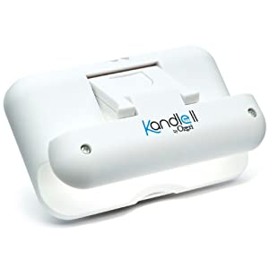Kandle by Ozeri II LED Book Light in White — Designed for the Amazon Kindle (fits latest generation Kindle and all models), and other eBook readers