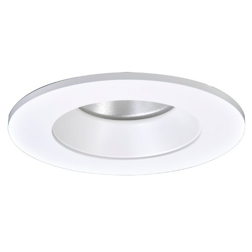 Halo Recessed TL402WHS 4-Inch LED Trim Shower Rated Solite Regressed Lens with Reflector and Ring, Matte White