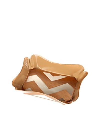 Jayes Chevron Trinket Tray, Gold