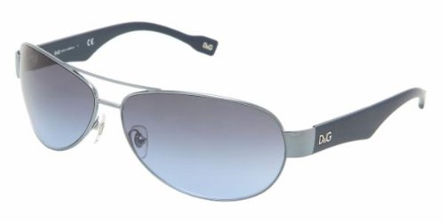 D&g Dd6064 356/8f Blue Navy Sunglasses In Metal