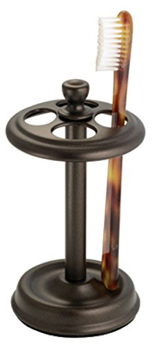 Interdesign york metal toothbrush stand bronze for Interdesign york
