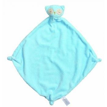 Angel Dear Cashmere Soft Polyester Blankie, Blue Owl - 1