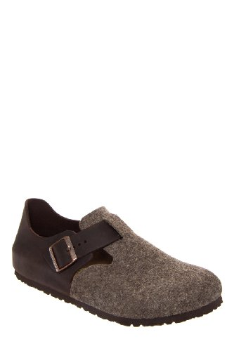Birkenstock Men's London Waxy Leather Wool Shoe