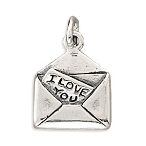 Sterling Silver I Love You Letter Charm