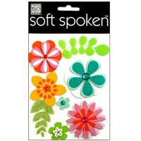Me & My Big Ideas Sticker Soft Spoken Package Petals Flowers (Pack of 3)