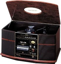 DENON GP-S50 音聴箱 卓上ステレオ レコード/CD/カセット/ラジオ搭載 木目