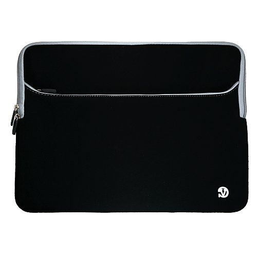 "VangoddyTM Premium Scratch Resistant Protective Neoprene Sleeve with Exterior Pocket Dell 17.3"" i17R-1599 Laptop PC , Black Grey Trim at Sears.com"