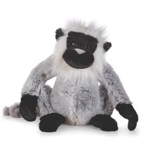 "WEBKINZ Grey Langur Pet Of the Month January 2012 + Free 12-Pack Of ""AFRIKA"" BRITE Kids Silly Bandz Shaped As Popular Jungle Animals Licensed By Pii!!!"