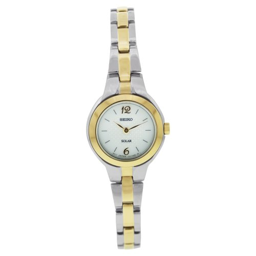 Seiko Women's SUP024 Two-Tone Two-tone Stainless-Steel Quartz Watch with White Dial