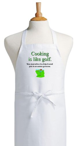 Cooking Is Like Golf Funny Apron For Golfers