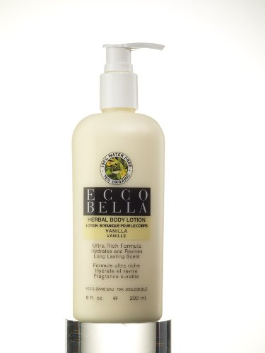 Ecco Bella Original Organic Water-Free Herbal Body Lotion, Vanilla, 8-Ounce Bottle