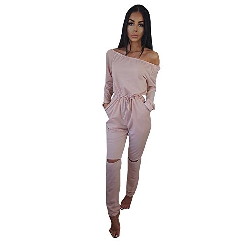 alaix-womens-off-shoulder-bodycon-knee-hole-pants-party-club-jumpsuits-rompers-pink-xl