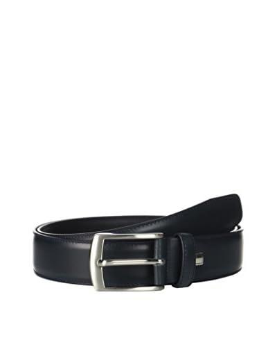 Ortiz & Reed Cintura Pelle Navy Leather Belt [Blu Navy]