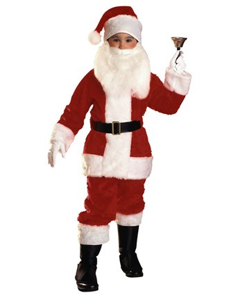 Economy Child Santa Suit Christmas Xmas Holiday Outfit Kids Costume